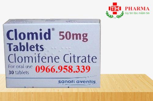 Thuốc clomid 50mg clomifene citrate mua ở đâu giá bao nhiêu