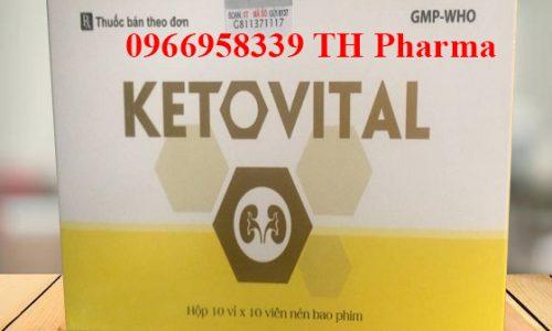 Thuốc Ketovital đạm thận chính hãng, mua ở đâu uy tín, giá bao nhiêu