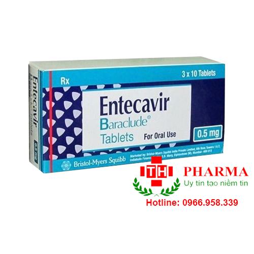 Thuốc Baraclude 0.5mg entecavir điều trị viêm gan B mạn tính mua ở đâu giá bao nhiêu