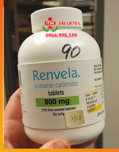 Thuốc Renvela Sevelamer Carbonat 800mg mua ở đâu giá bao nhiêu, thuốc hạn phosphat máu