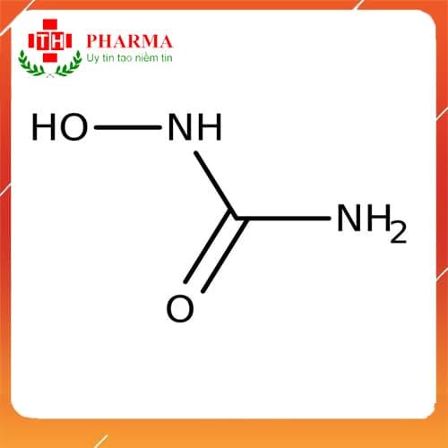 Công thức hóa học của Hydroxyurea HYNITON 500mg